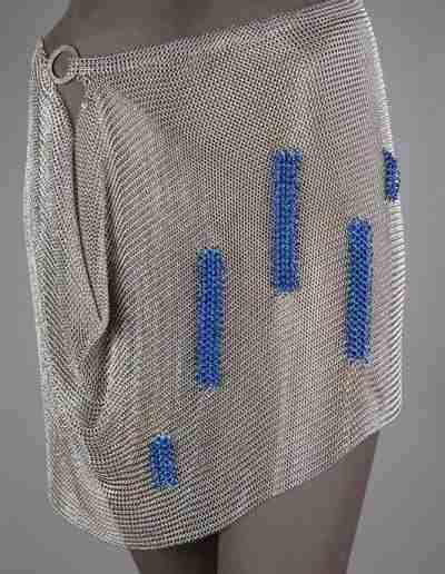 Blocks of Blue Skirt